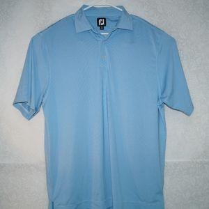 FootJoy Mens Stripe Blue Polo Shirt Size L